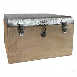 Förvaringskoffert i zink och mangoträ