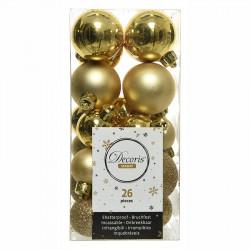 Julgranskulor, Guld, mix, 3-4cm, 26st./paket