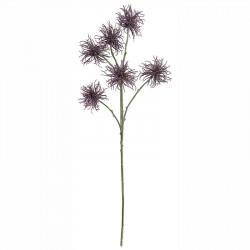 Krysantemum, 6 blomster, lilla, 80cm,kunstig blomst