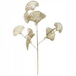 Gren med blad, guld, 70 cm, konstgjord gren
