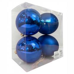 Julgranskulor, Royal Blue, 10cm, 4st./paket