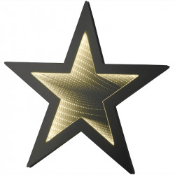 Stjärna m LED infinity ljus, D: 47cm