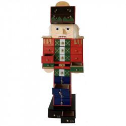 Nötknäppare julkalender i MDF, återanvändningsbar