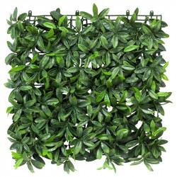 Bladmix platta glansbuske, UV, 50x50cm, konstgjord växt