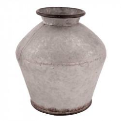 Zinkvas päronformad, 24cm, ljusgrå
