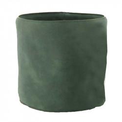 Krukfodral i läder, Ø21,5cm, Grön