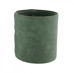 Krukfodral i läder, Ø15,5cm, Grön