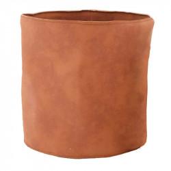 Krukfodral i läder, Ø21,5cm, Cognac färgad