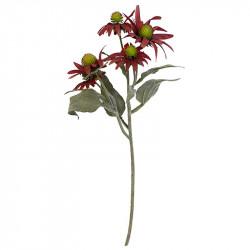 Solhatt, röd, 50cm, konstgjord blomma