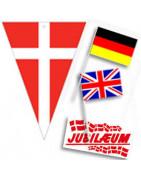 Danske & udenlandske flag på pind (plast & træ) m.m. ⇒ Køb her!