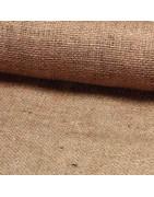 Få hessian stof i naturfarve eller andre fine farver ⇒ Brondsholm.dk